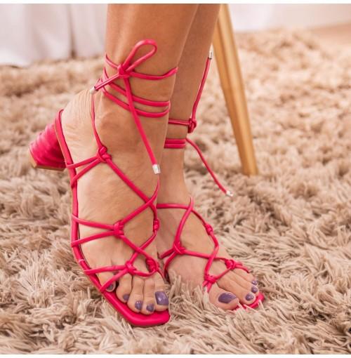 Sandália Amarração Slim Fly - 111498-Pink #d60064-34