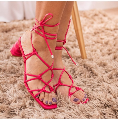 Sandália Amarração Slim Fly - 111498-Pink #d60064-38