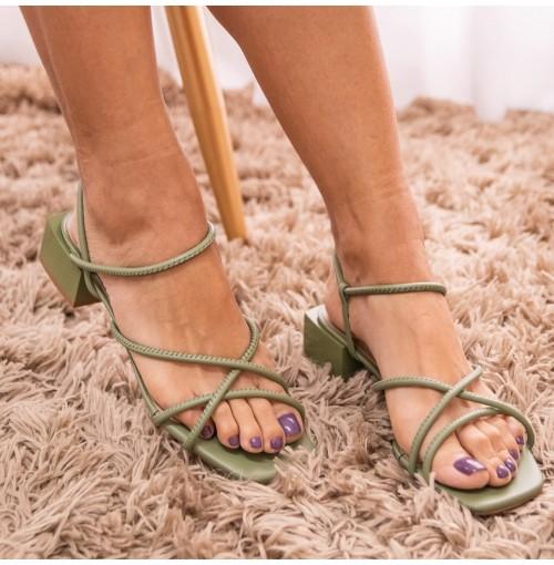Sandália New Soft Brumas - 111459-Aspargo #97c888-35