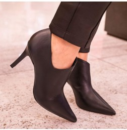 Ankle Boot Couro Liso/Jacaré - 111215